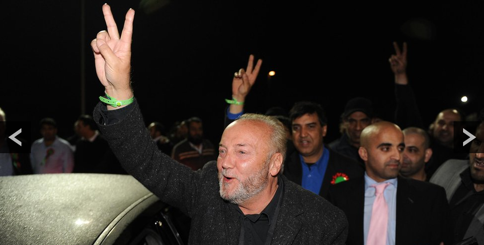 V for Muslim Victory in the new asian state of Bradford